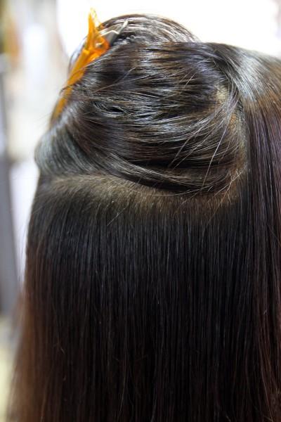 縮毛矯正 自然なストレートヘアー ナチュラル