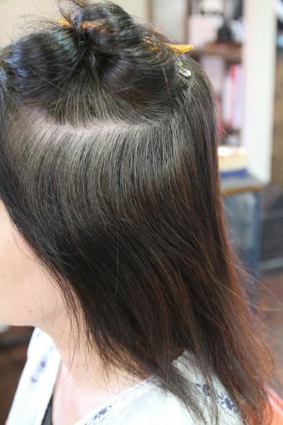 縮毛矯正 白髪 グレーカラー